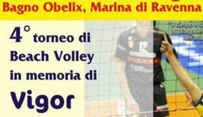 locandina torneo beach volley Obelix